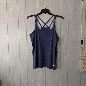 NWT Nike dri-fit blue criss cross back sz XL